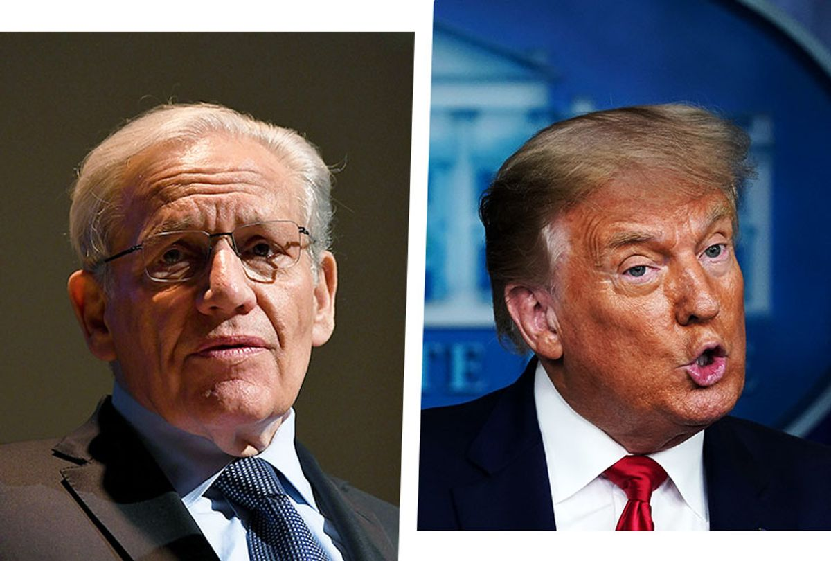 Bob Woodward and Donald Trump (Photo illustration by Salon/Getty Images)