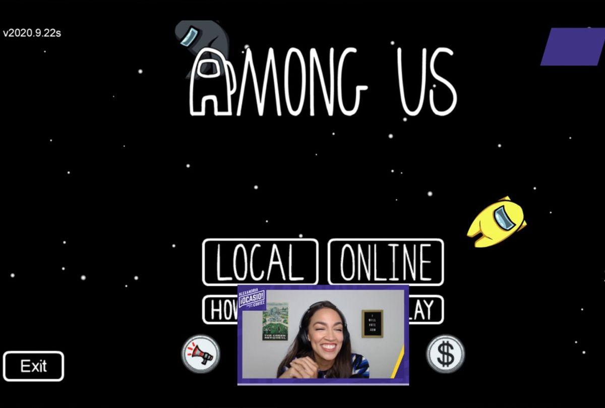 Screenshot from Alexandria Ocasio-Cortez's Twitch stream, playing Among Us (Twitch/Alexandria Ocasio-Cortez)