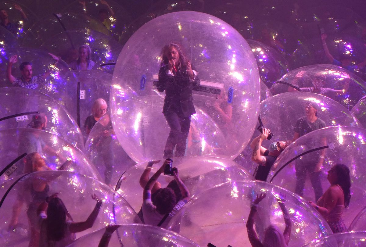 """Wayne Coyne of The Flaming Lips in """"Assassins of Youth"""" video (Scott Booker)"""