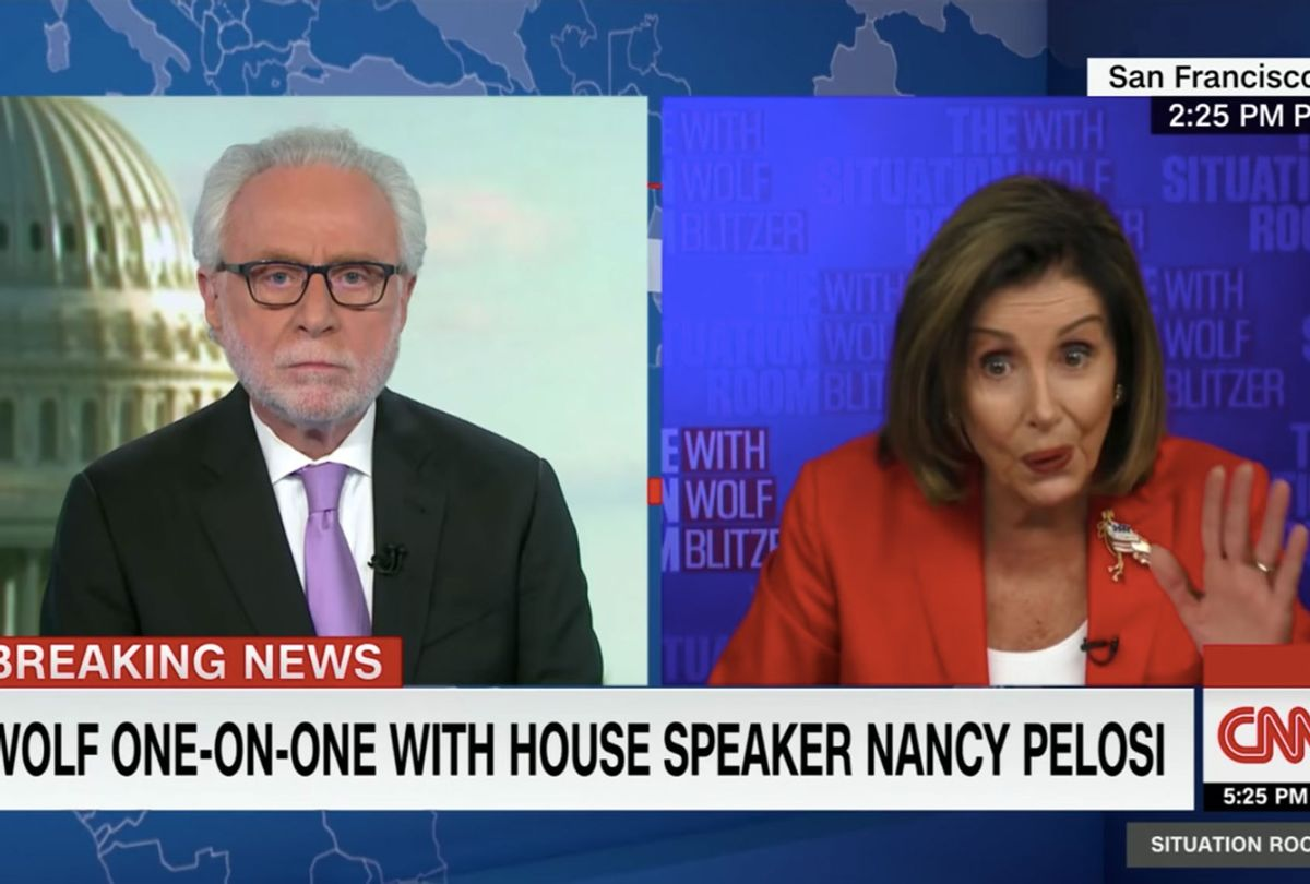 Wolf Blitzer speaks with House Speaker Nancy Pelosi about why she has not accepted President Donald Trump's roughly $1.8 trillion stimulus offer (CNN)