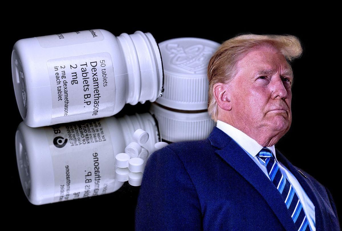 Donald Trump | Dexamethasone (Photo illustration by Salon/Getty Images)