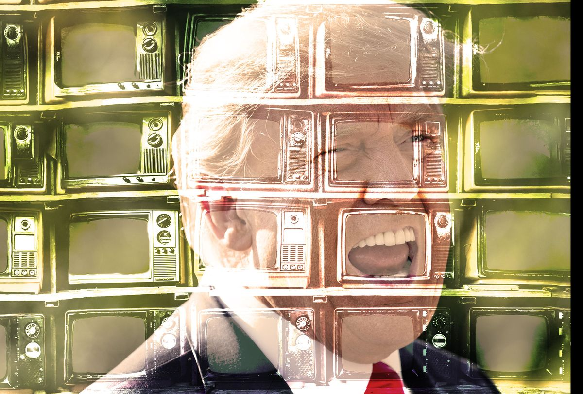 Donald Trump, with old televisions overlay on top (Photo illustration by Salon/Getty Images)