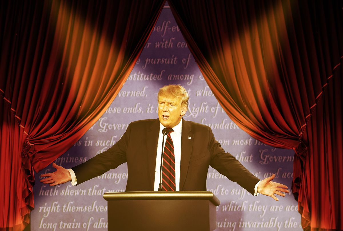 Donald Trump, putting on a show (Photo illustration by Salon/Getty Images)