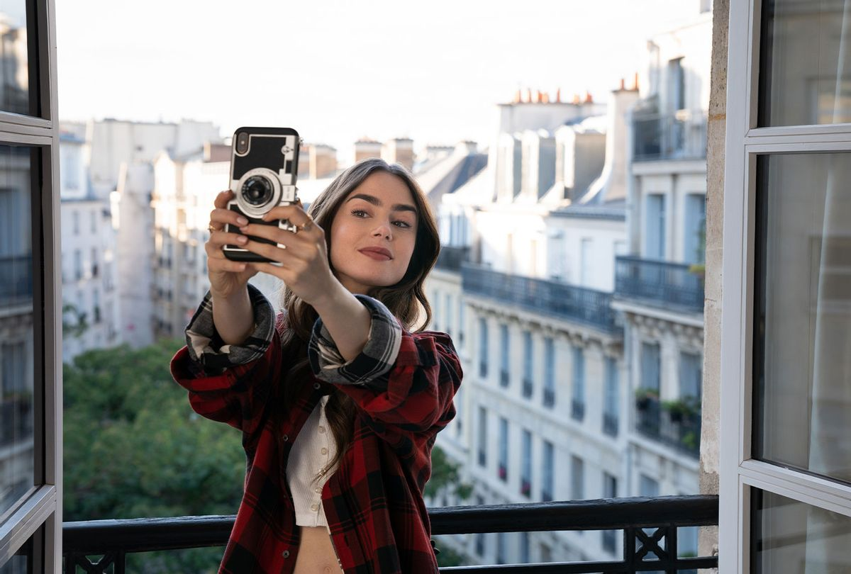 """Lily Collins as Emily in """"Emily In Paris"""" (STEPHANIE BRANCHU/NETFLIX)"""