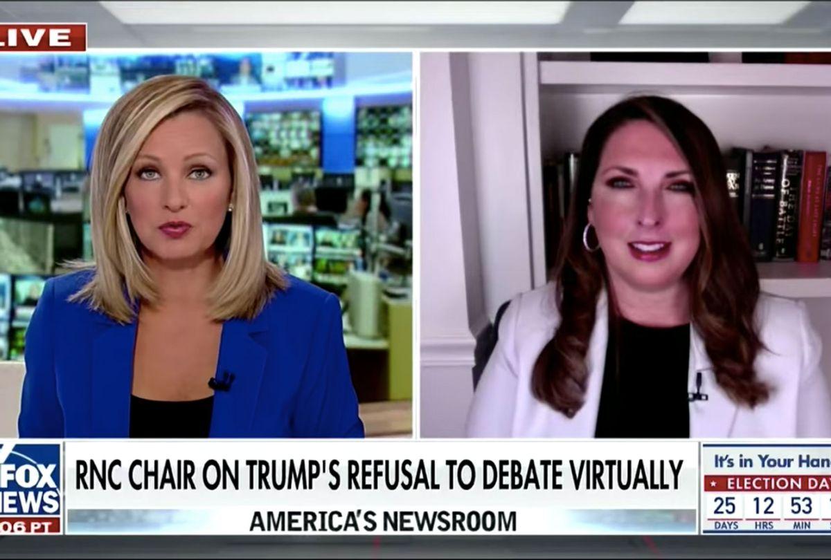 Fox News host grills GOP chairwoman opposing 'virtual' debate (FOX News)