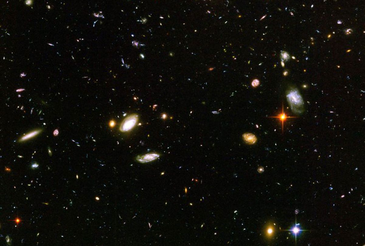 Image of a cluster of galaxies from the Hubble Ultra Deep Field (NASA)
