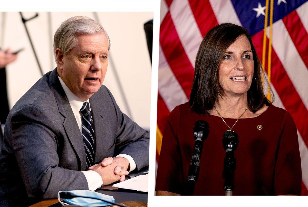 Senator Lindsey Graham and Representative Martha McSally (Photo illustration by Salon/Getty Images)