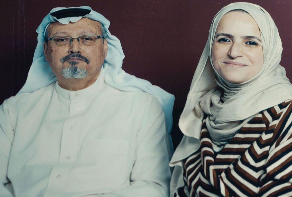 A picture of Jamal Khashoggi in KINGDOM OF SILENCE (Courtesy of SHOWTIME)