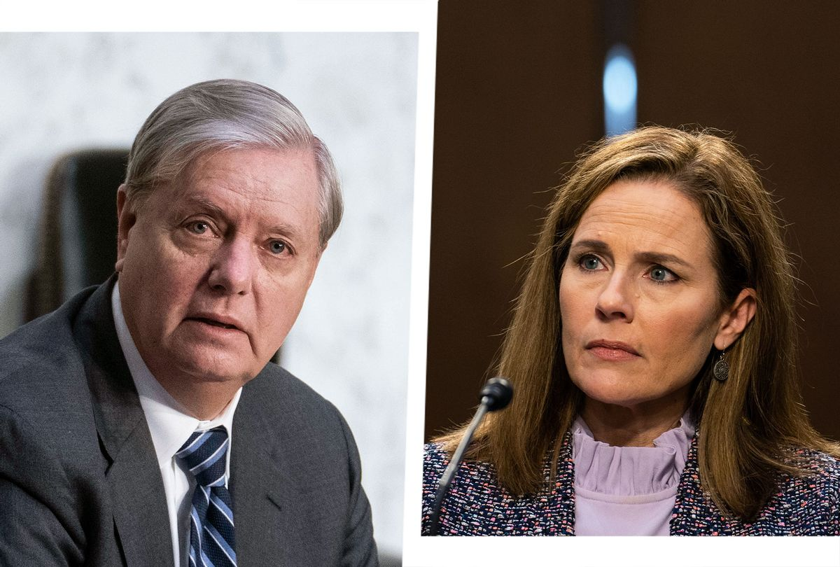 Lindsey Graham and Amy Coney Barrett (Photo illustration by Salon/Getty Images)