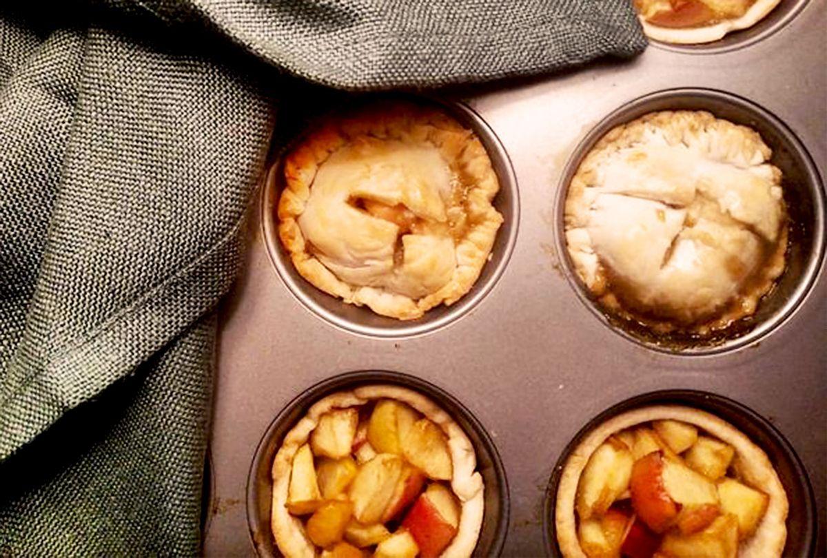 Use a muffin tin to make a dozen adorable miniature bourbon apple ...