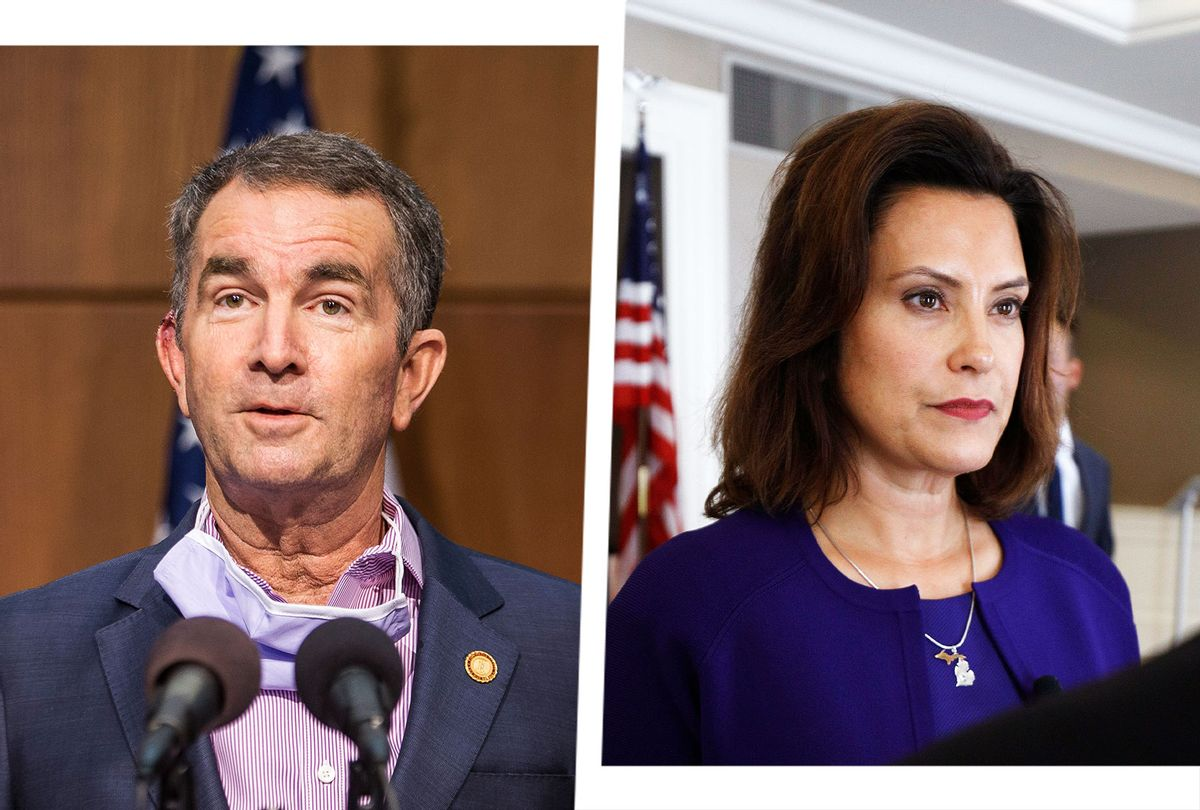 Ralph Northam and Gretchen Whitmer (Photo illustration by Salon/Getty Images)