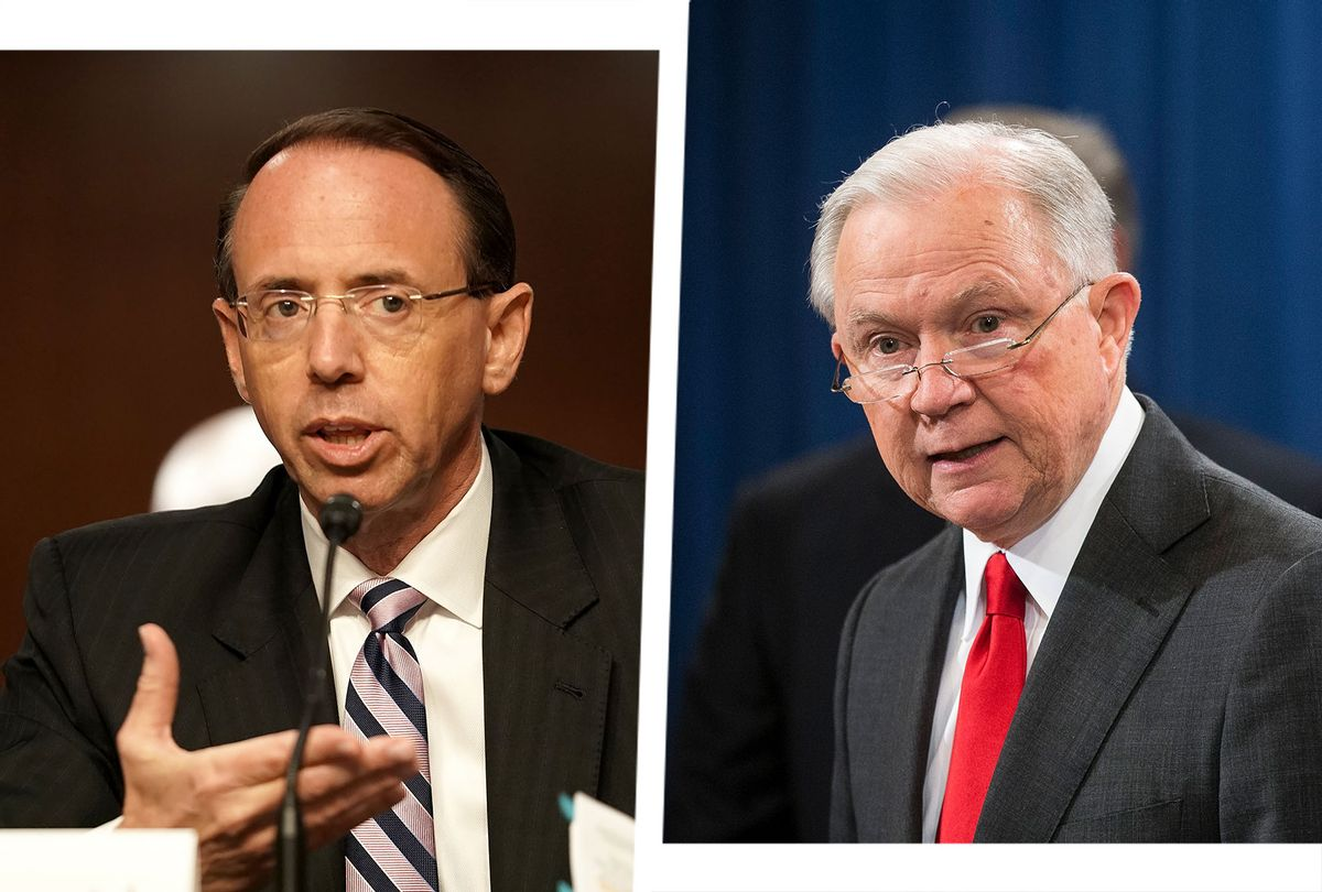 Rod Rosenstein and Jeff Sessions (Photo illustration by Salon/Getty Images)
