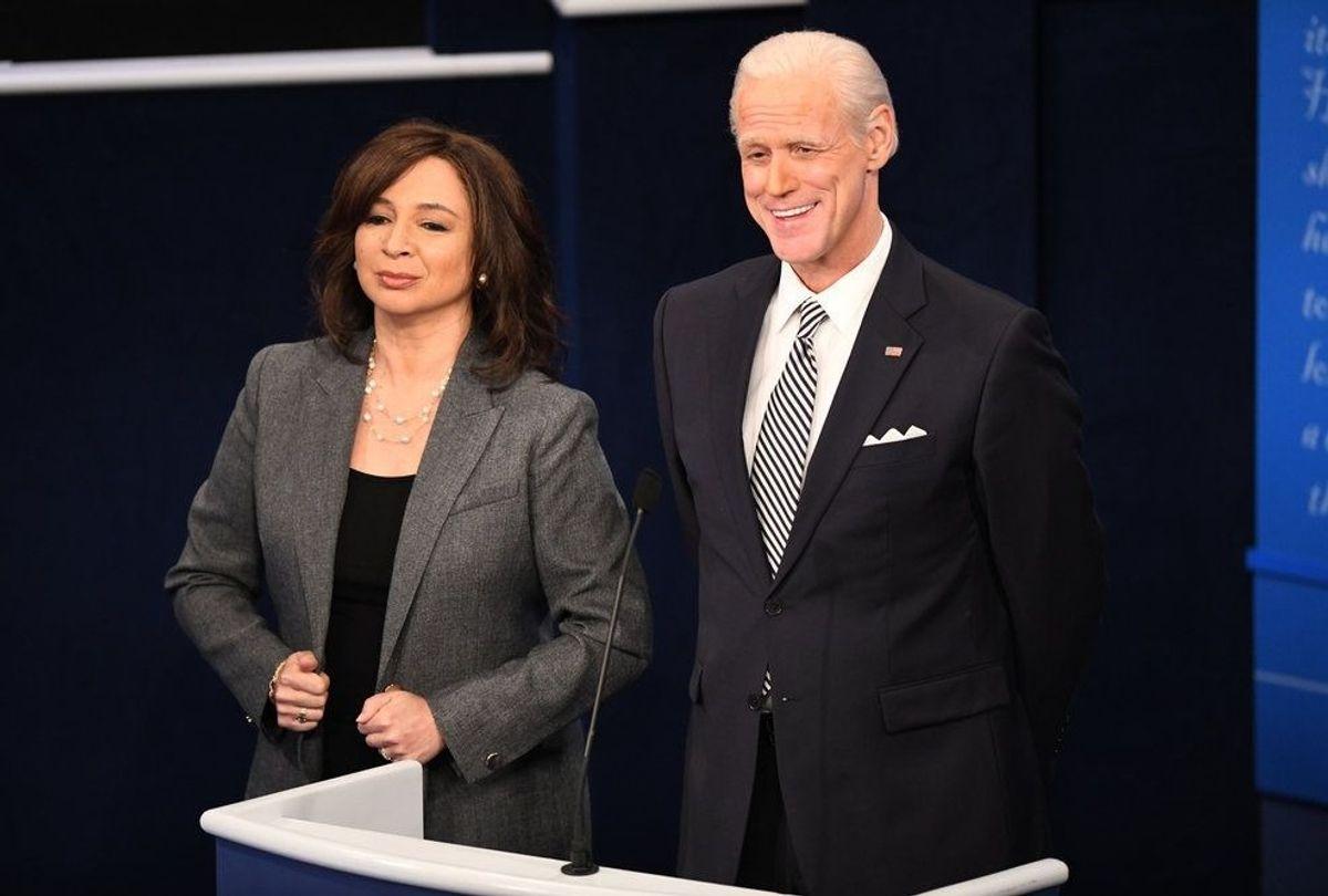 "Maya Rudolph as Kamala Harris and Jim Carrey as Joe Biden on ""Saturday Night Live"" (Will Heath/NBC)"