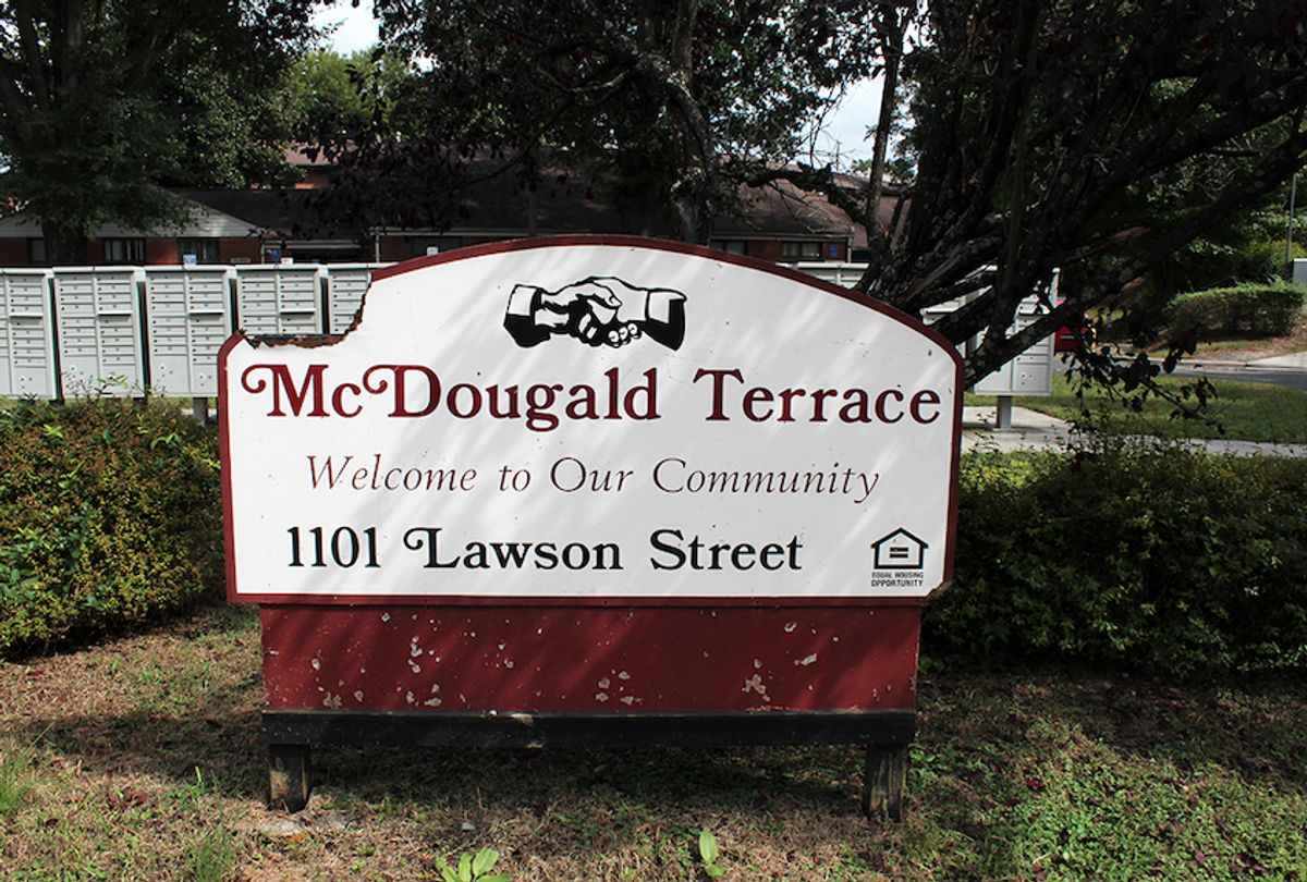 Built in 1954, McDougald Terrace is Durham County's oldest and largest public housing complex. (Abe Kenmore / Capital & Main)