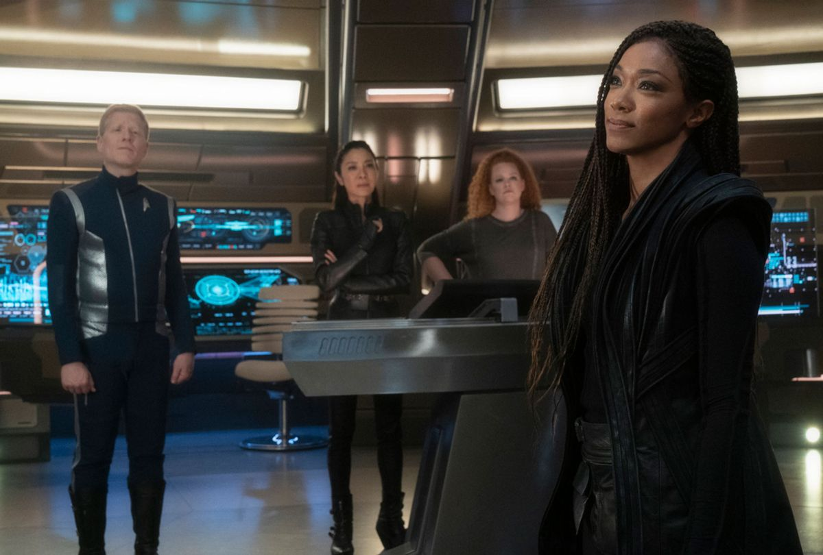 Anthony Rapp as Stamets; Michelle Yeoh as Georgiou; Mary Wiseman as Tilly; Sonequa Martin-Green as Burnham of the the CBS All Access series STAR TREK: DISCOVERY (CBS)