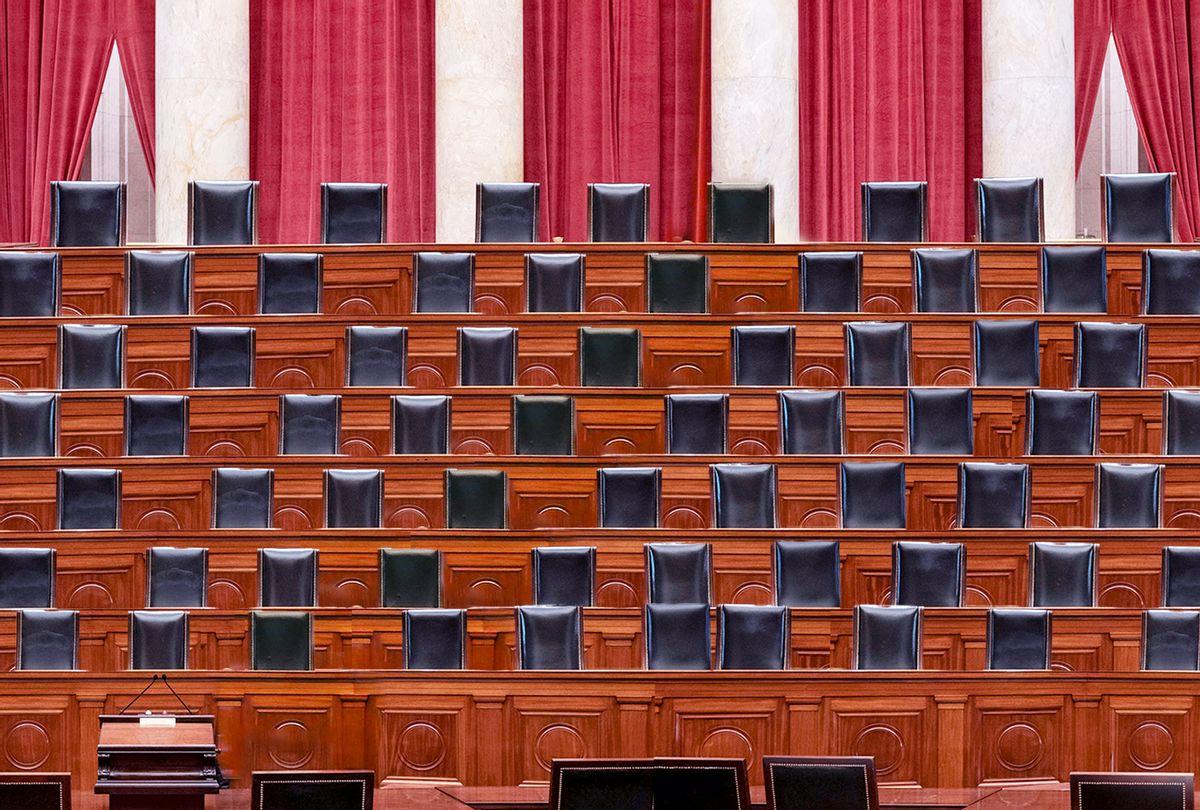 A 67-person Sumpreme Court (Photo illustration by Salon/Getty Images)