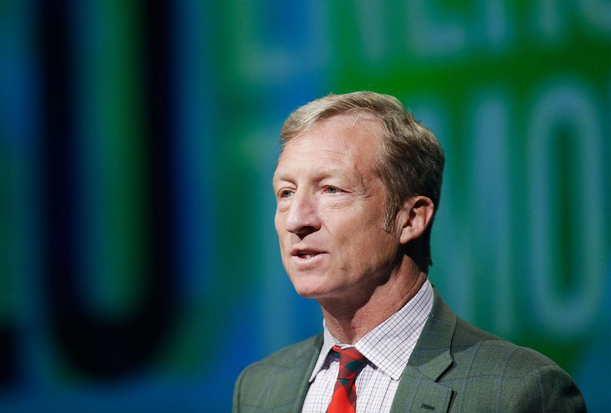 Tom Steyer introduces a panel during the National Clean Energy Summit 6.0 at the Mandalay Bay Convention Center on August 13, 2013 in Las Vegas, Nevada. (saac Brekken/Getty Images for National Clean Energy Summit 6.0)