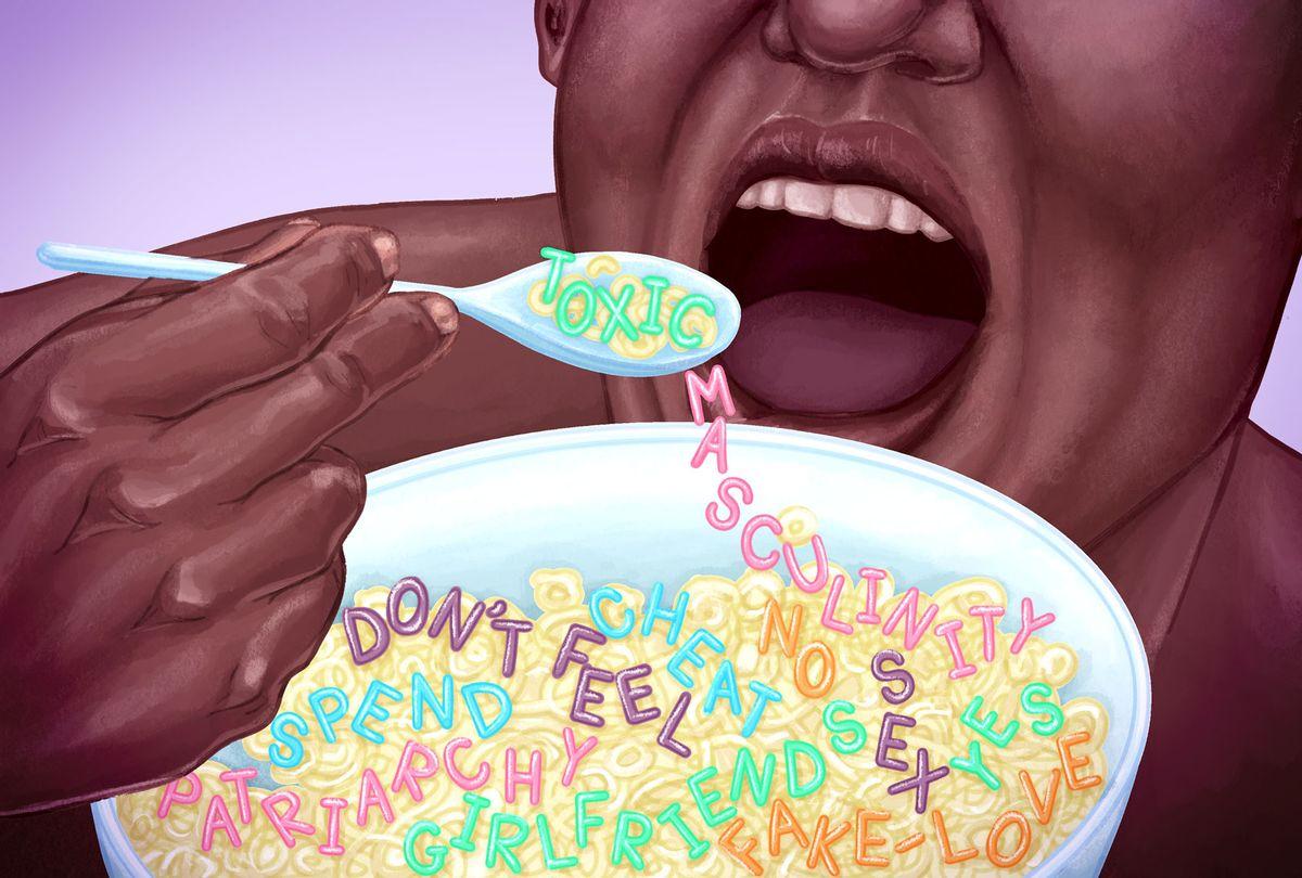 Toxic Masculinity (Illustration by Ilana Lidagoster/Salon)