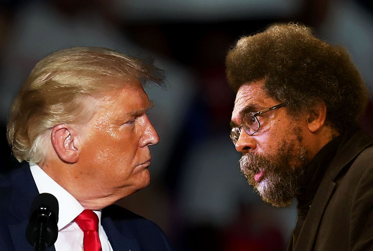 Donald Trump and Cornel West (Photo illustration by Salon/Getty Images)