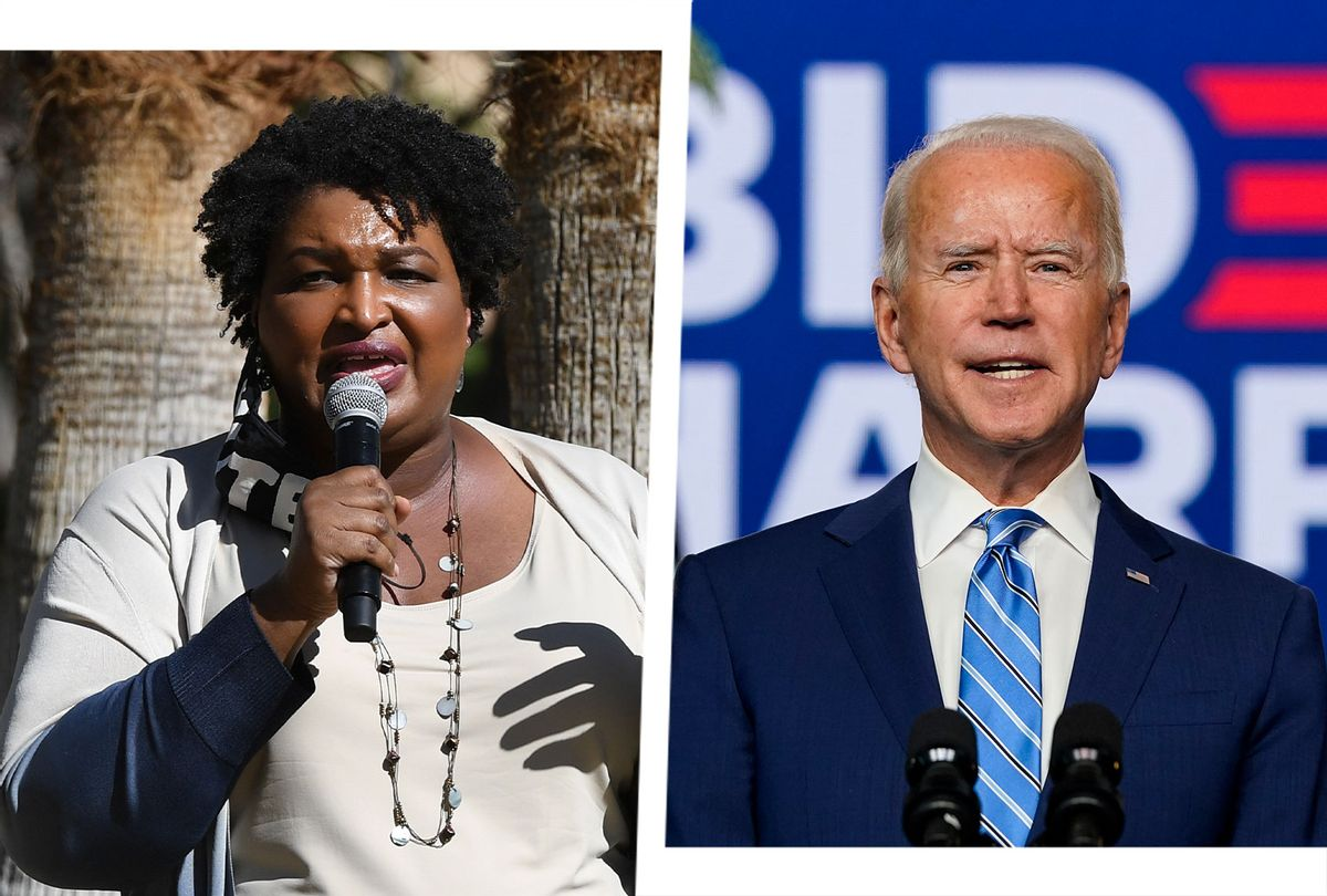 Joe Biden and Stacey Abrams (Photo illustration by Salon/Getty Images)