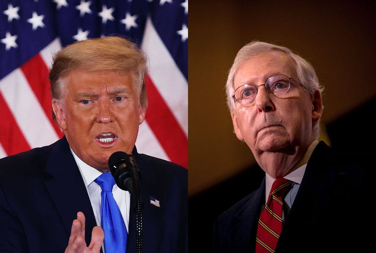 Donald Trump and Mitch McConnell (Photo illustration by Salon/Getty Images)