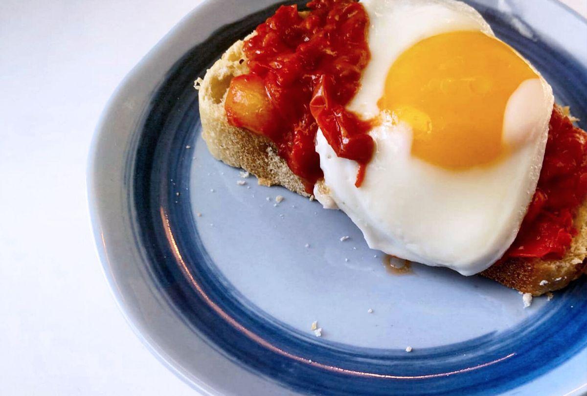 Eggs in purgatory on toast (Ashlie Stevens)