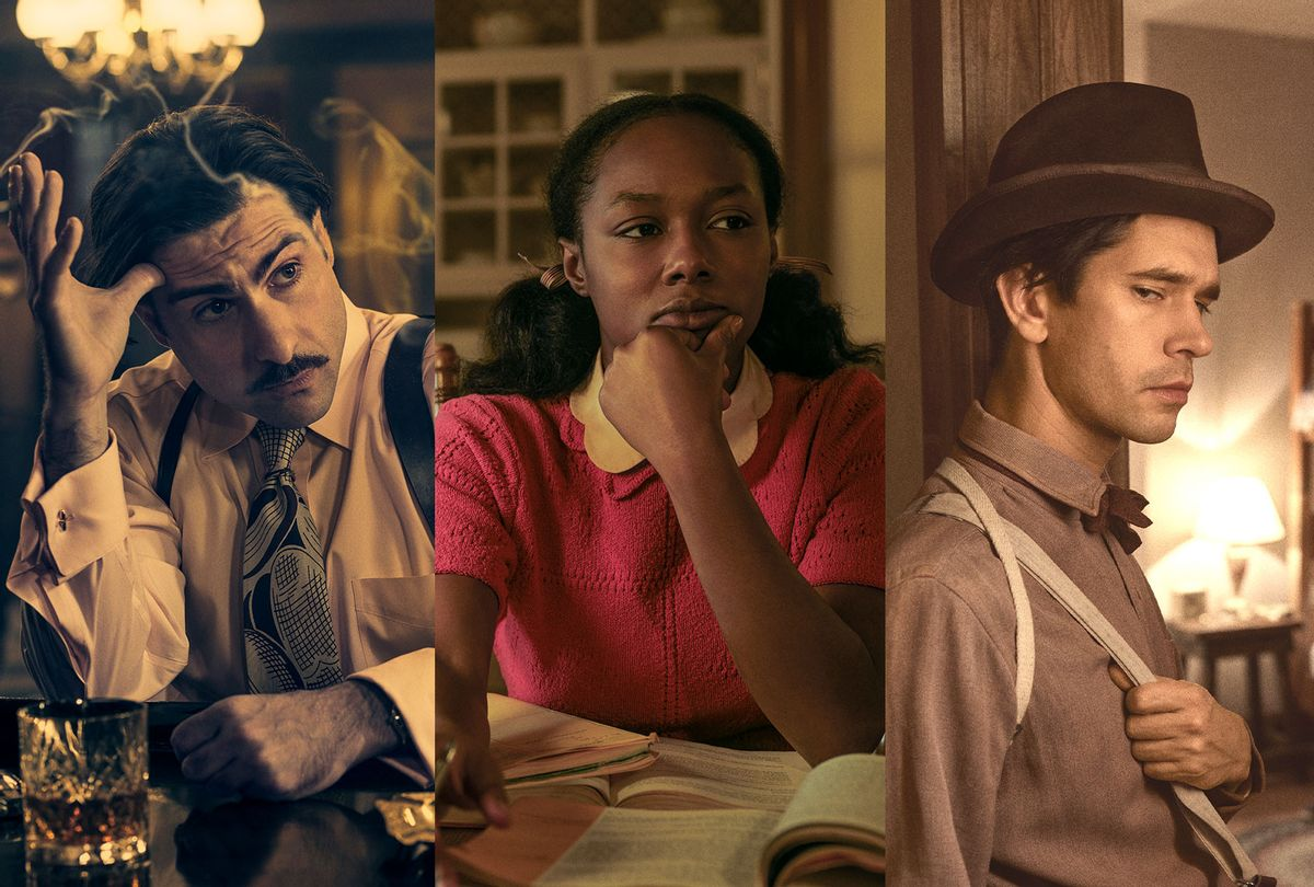 "Jason Schwartzman, E'myri Crutchfield, and Ben Whishaw in ""Fargo"" (Matthias Clamer/FX)"