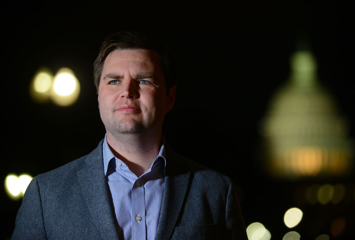 """J.D. Vance, author of the book """"Hillbilly Elegy,"""" poses for a portrait photograph near the US Capitol building in Washington, D.C. (Astrid Riecken For The Washington Post/Getty Images)"""