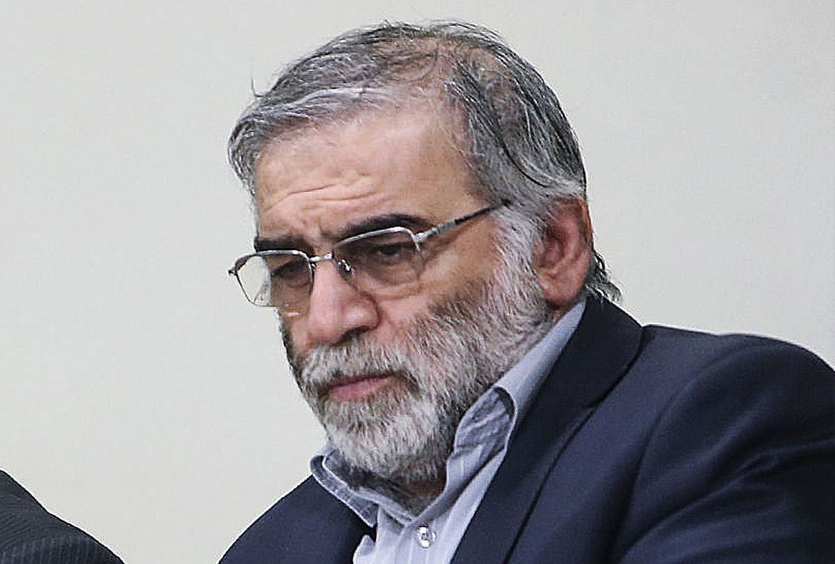 A file photo dated 23 January 2019 shows Iran's top nuclear scientist Mohsen Fakhrizadeh (Iranian Leader Press Office/Handout/Anadolu Agency via Getty Images)