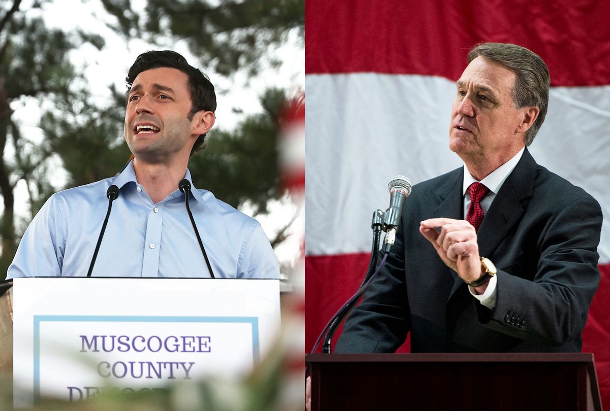 Jon Ossoff and David Perdue (Photo illustration by Salon/Getty Images)