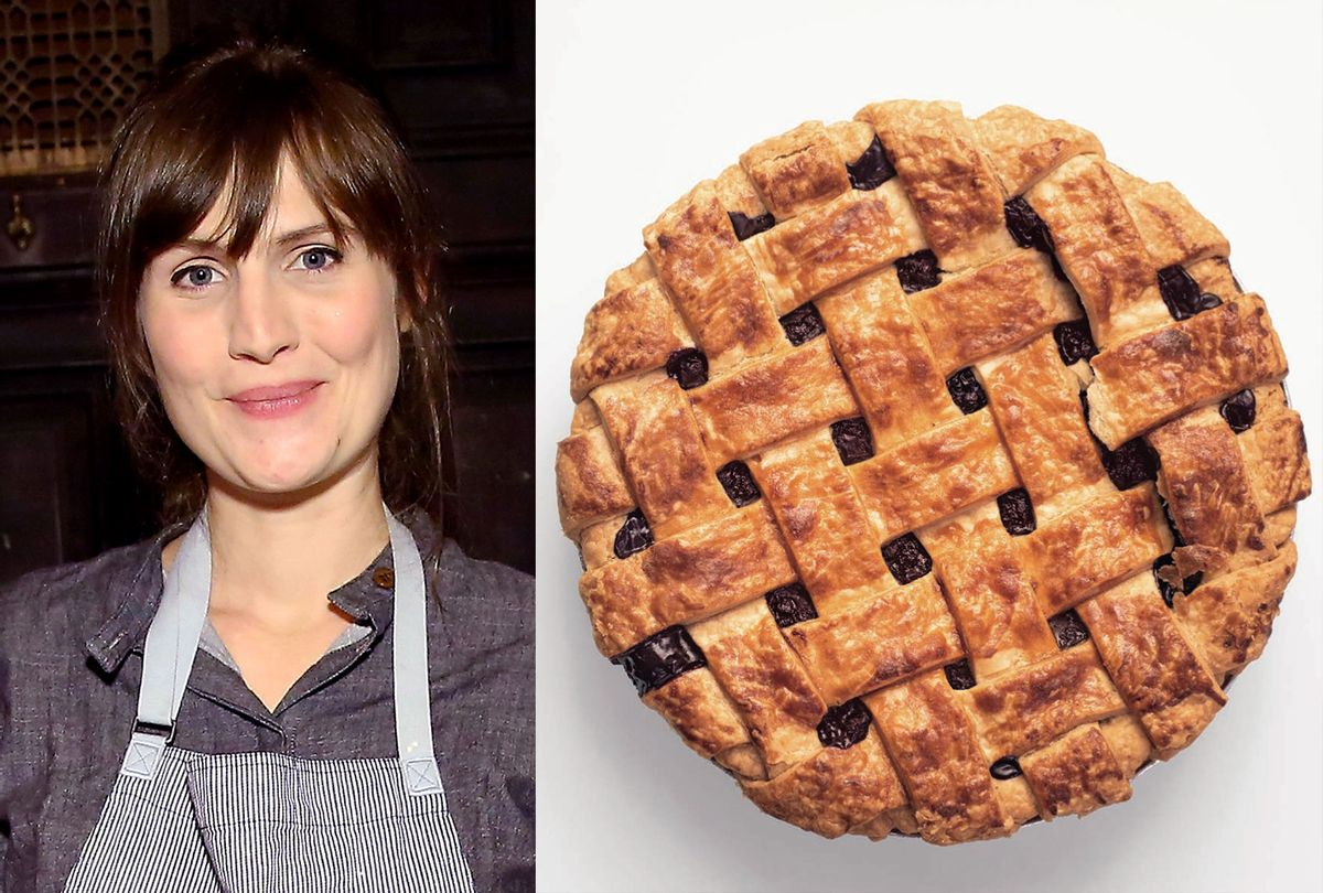 """Petra (Petee) Paredez is the head baker and co-owner of Petee's Pie Company and author of """"Pie for Everyone."""" (Photo illustration by Salon/Getty Images/Abrams Books)"""