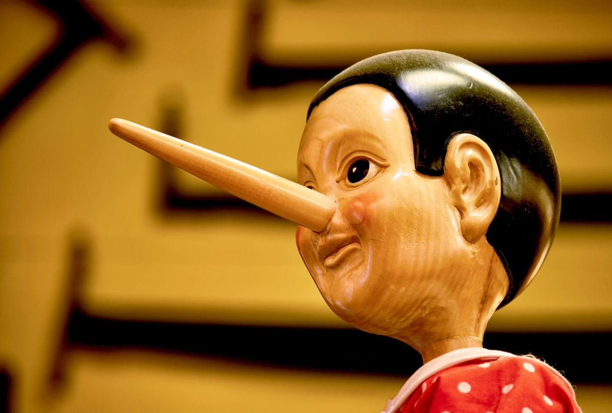 The long nose of a liar Pinocchio (Getty Images)