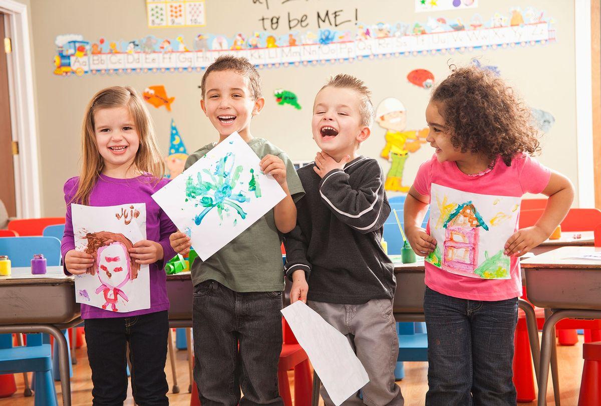 Pre-School kids in art class (Getty Images)