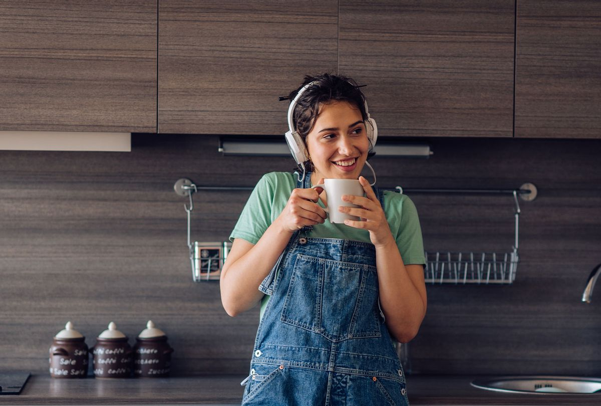 Woman enjoying music in the morning (Getty Images)