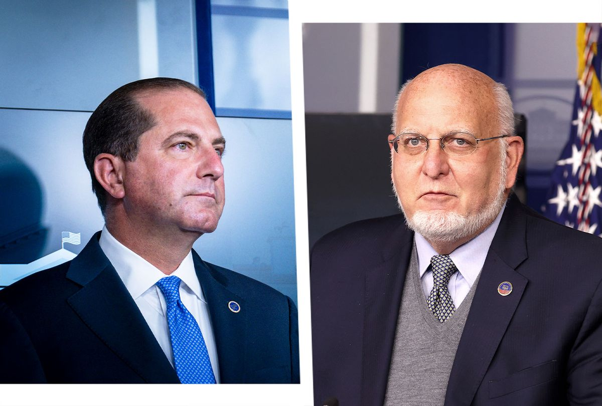 Alex Azar and Robert Redfield  (Photo illustration by Salon/Getty Images)