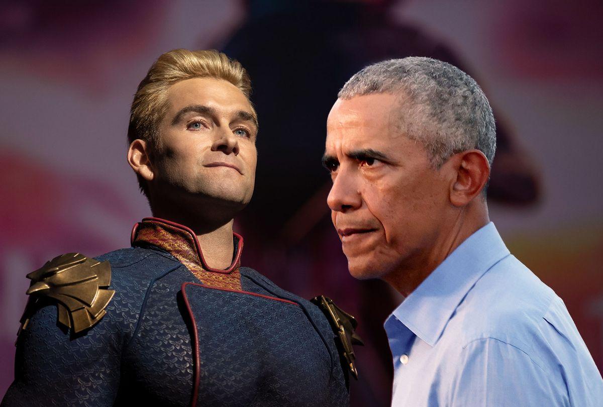 "Homelander of ""The Boys""   Barack Obama (PHoto illustration by Salon/Getty Images/Amazon Studios)"