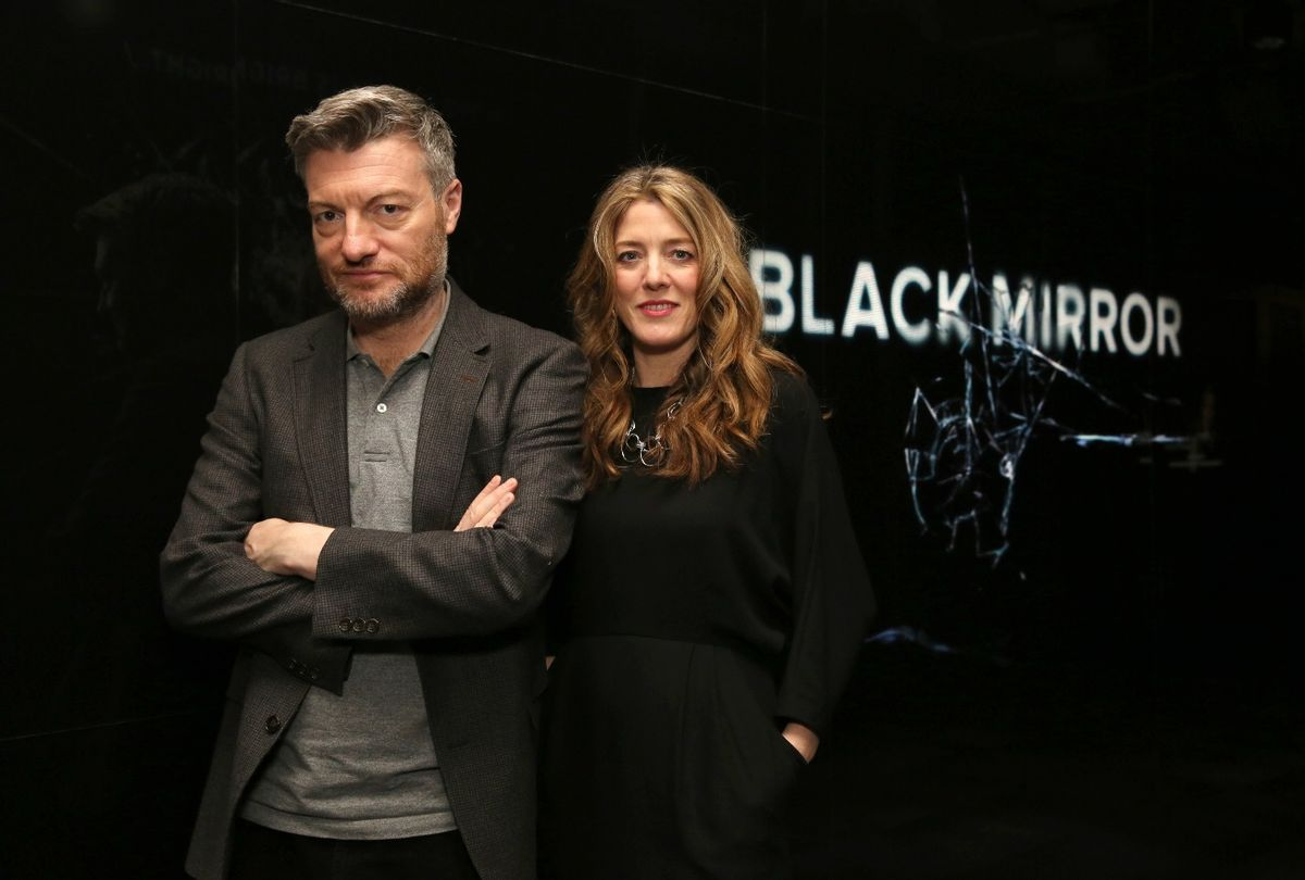 """Black Mirror"" creator Charlie Brooker and producer Annabel Jones  (Netflix)"