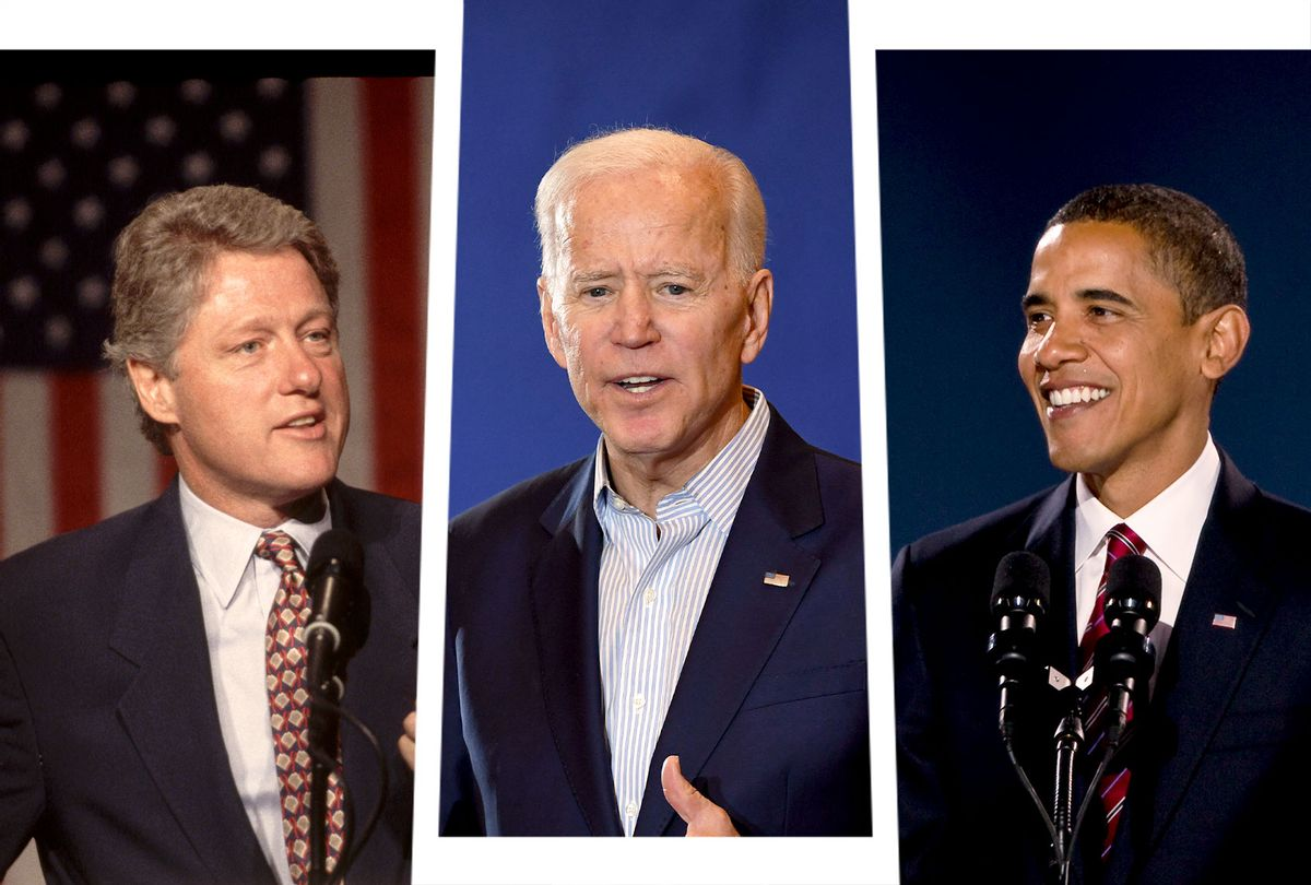 Joe Biden, Bill Clinton (circa 1992) and Barack Obama (circa 2008) (Photo illustration by Salon/Getty Images)