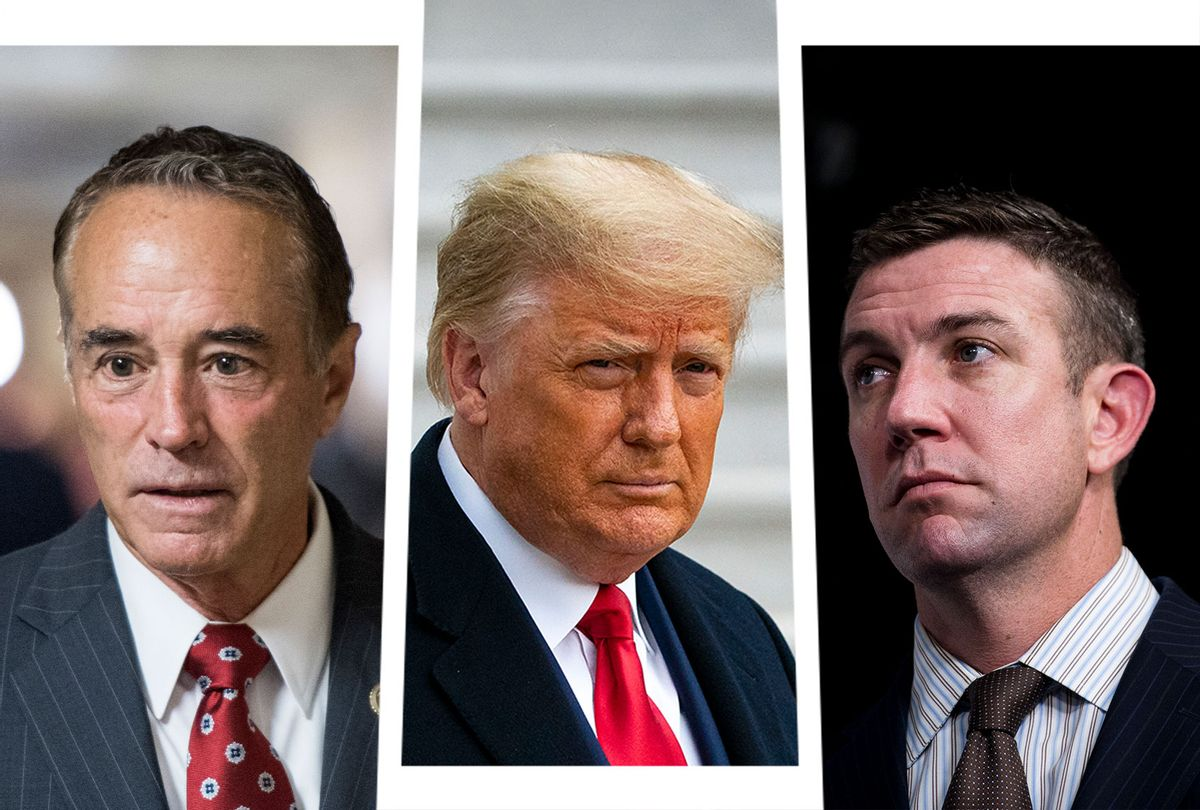 Donald Trump, Duncan Hunter and Chris Collins (Photo illustration by Salon/Getty Images)