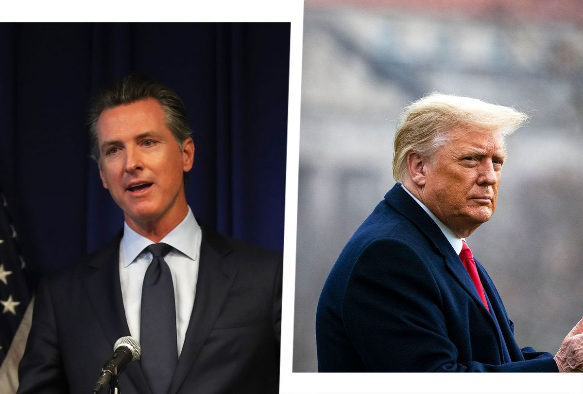 Gavin Newsom and Donald Trump (Photo illustration by Salon/Getty Images)