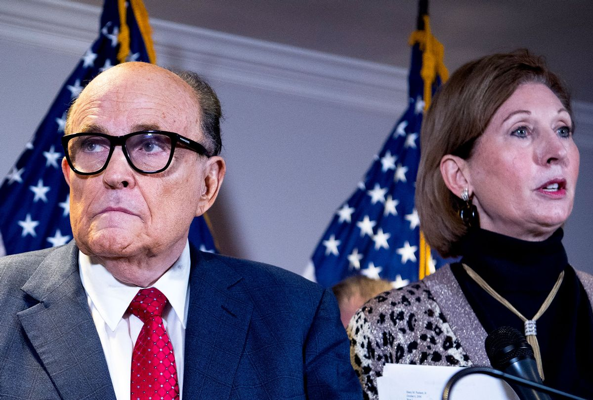 Rudolph Giuliani and Sydney Powell (Tom Williams/CQ-Roll Call, Inc via Getty Images)