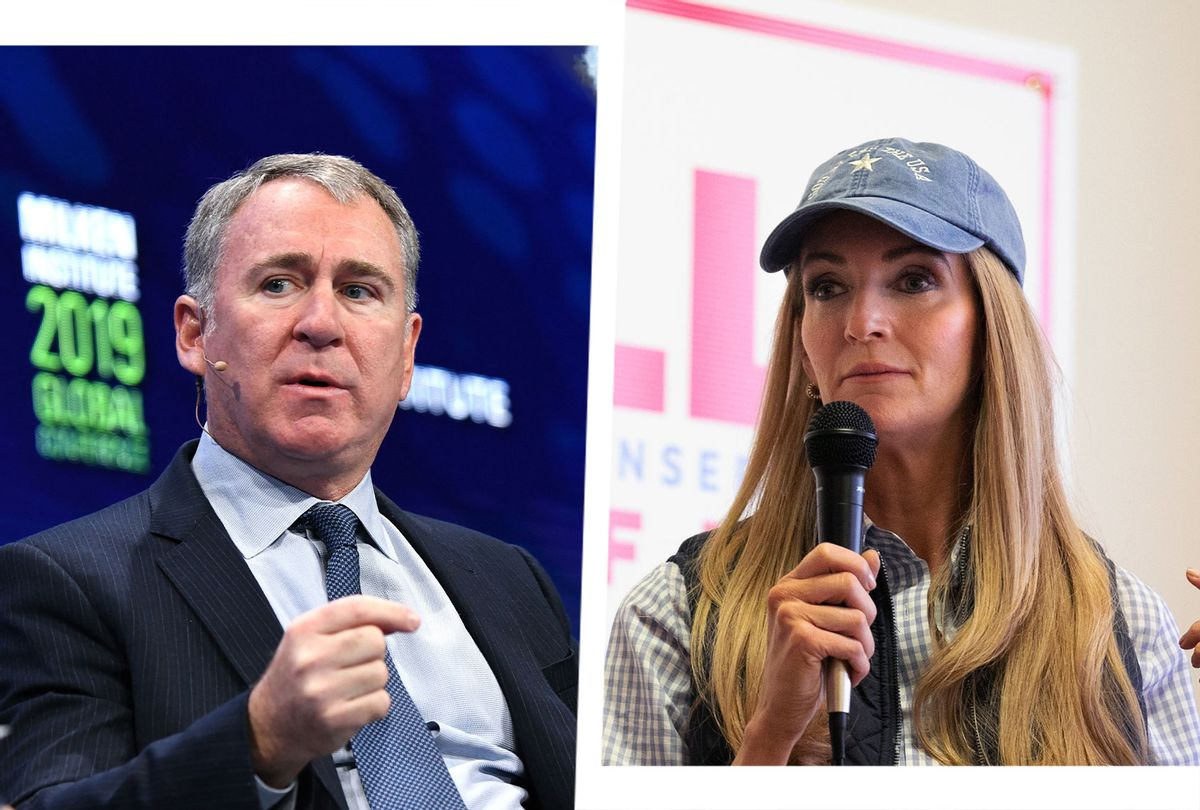 Kelly Loeffler and Ken Griffin (Photo illustration by Salon/Getty Images)