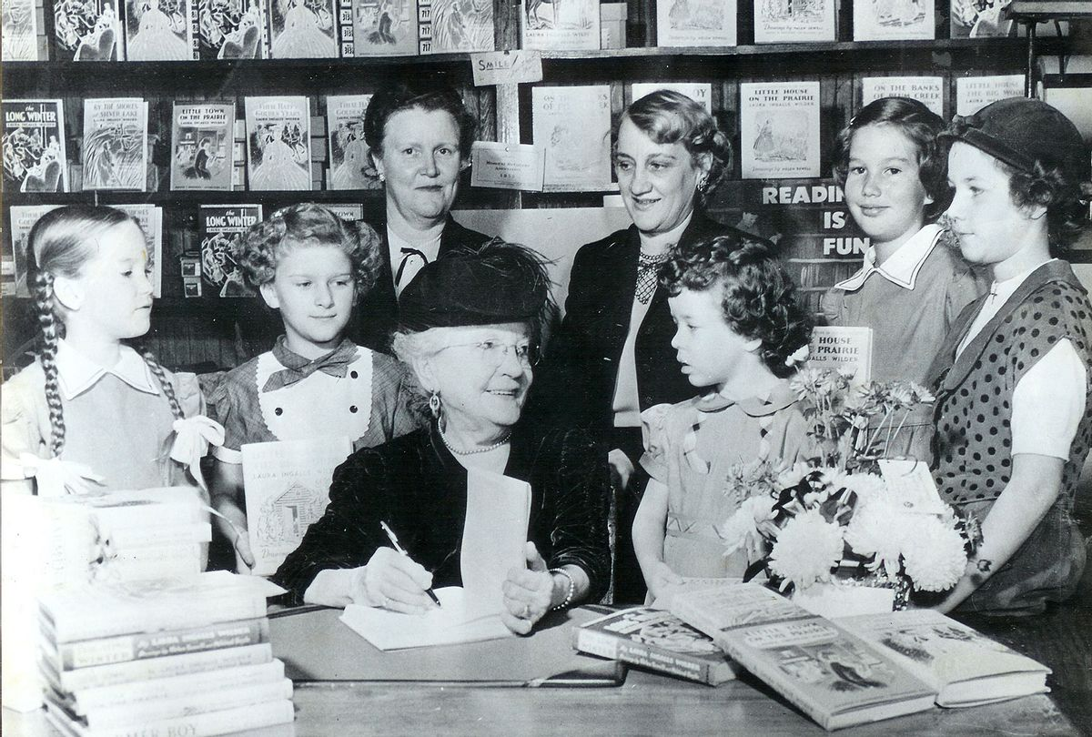 Laura Ingalls Wilder signing books ( Courtesy of LIW Memorial Society, De Smet, S)