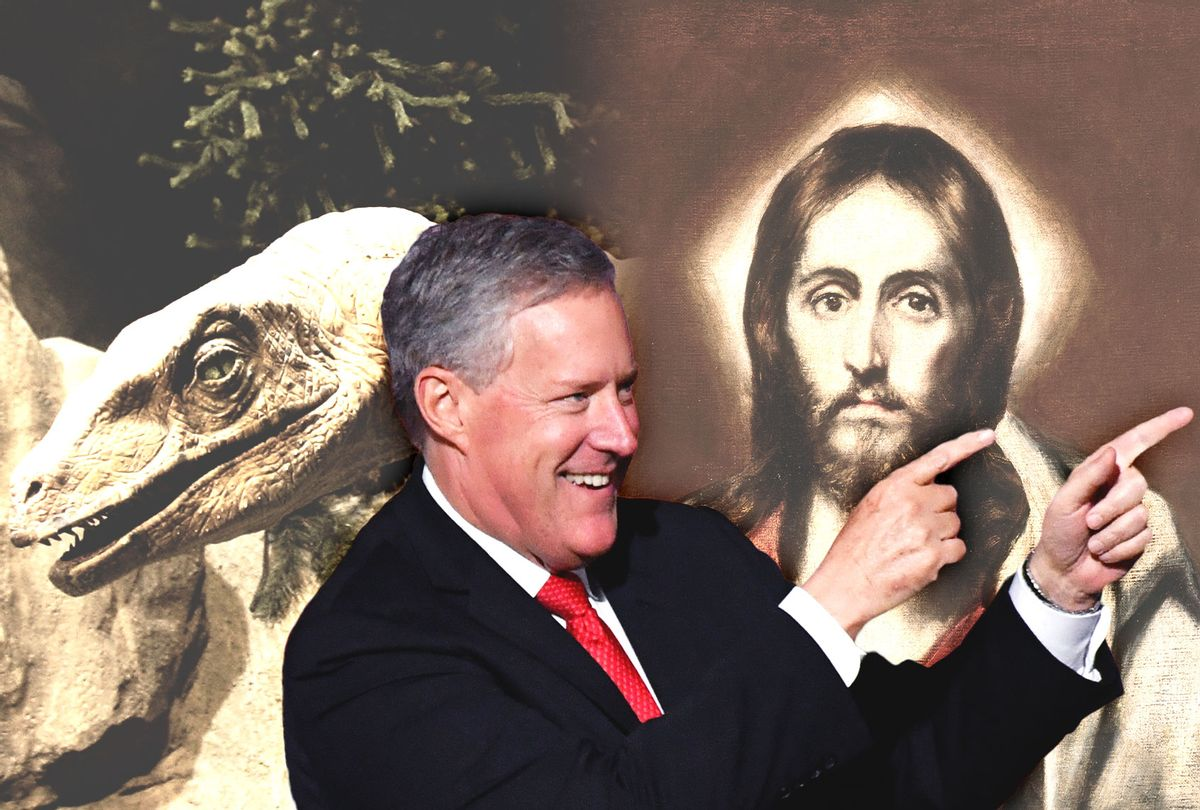Mark Meadows, Jesus and Dinosaurs (Photo illustration by Salon/Getty Images)