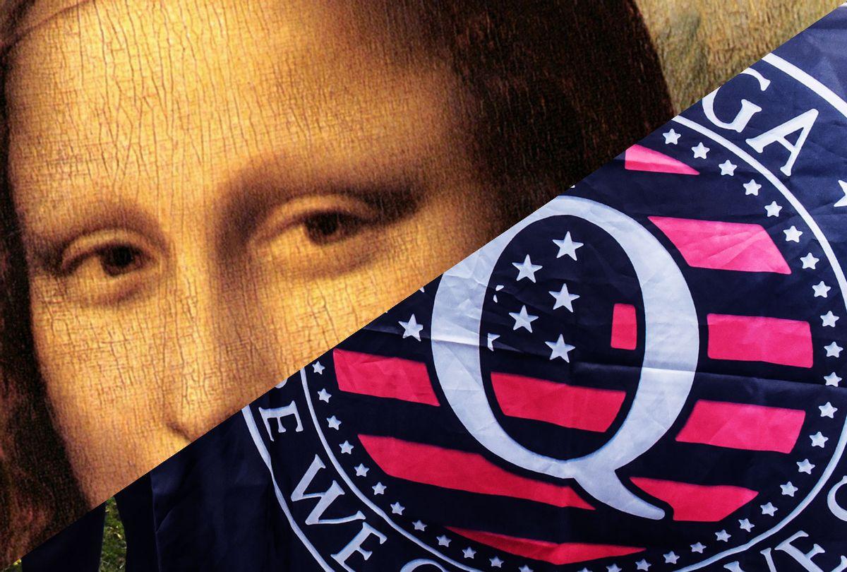 Mona Lisa's eyes   QAnon  (Photo illustration by Salon/Getty Images)