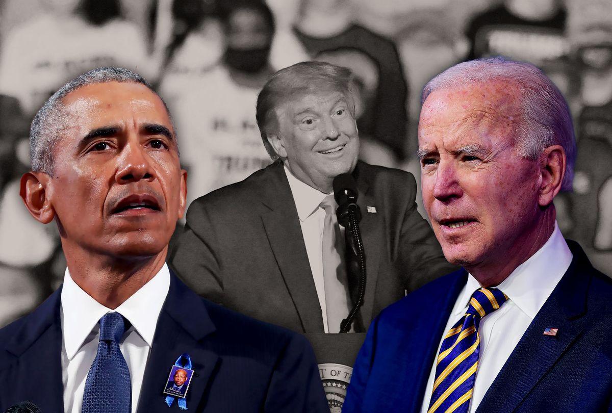 Barack Obama, Joe Biden and Donald Trump (Photo illustration by Salon/Getty Images)