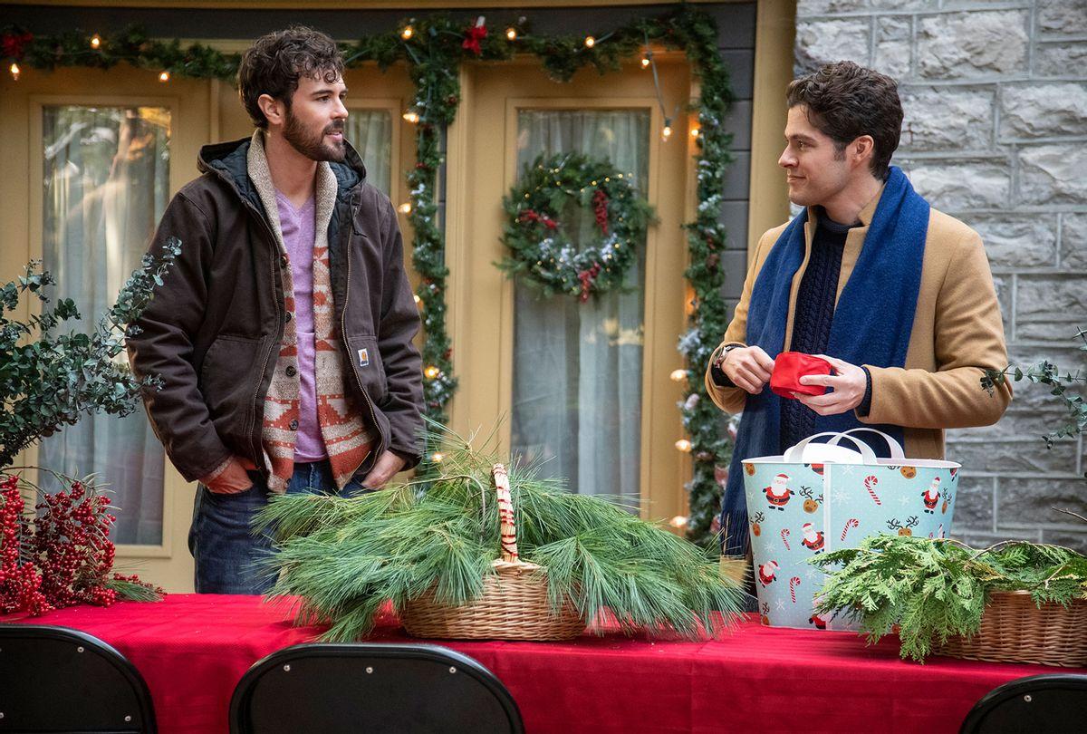 "Blake Lee and Ben Lewis in ""The Christmas Setup"" (Lifetime)"