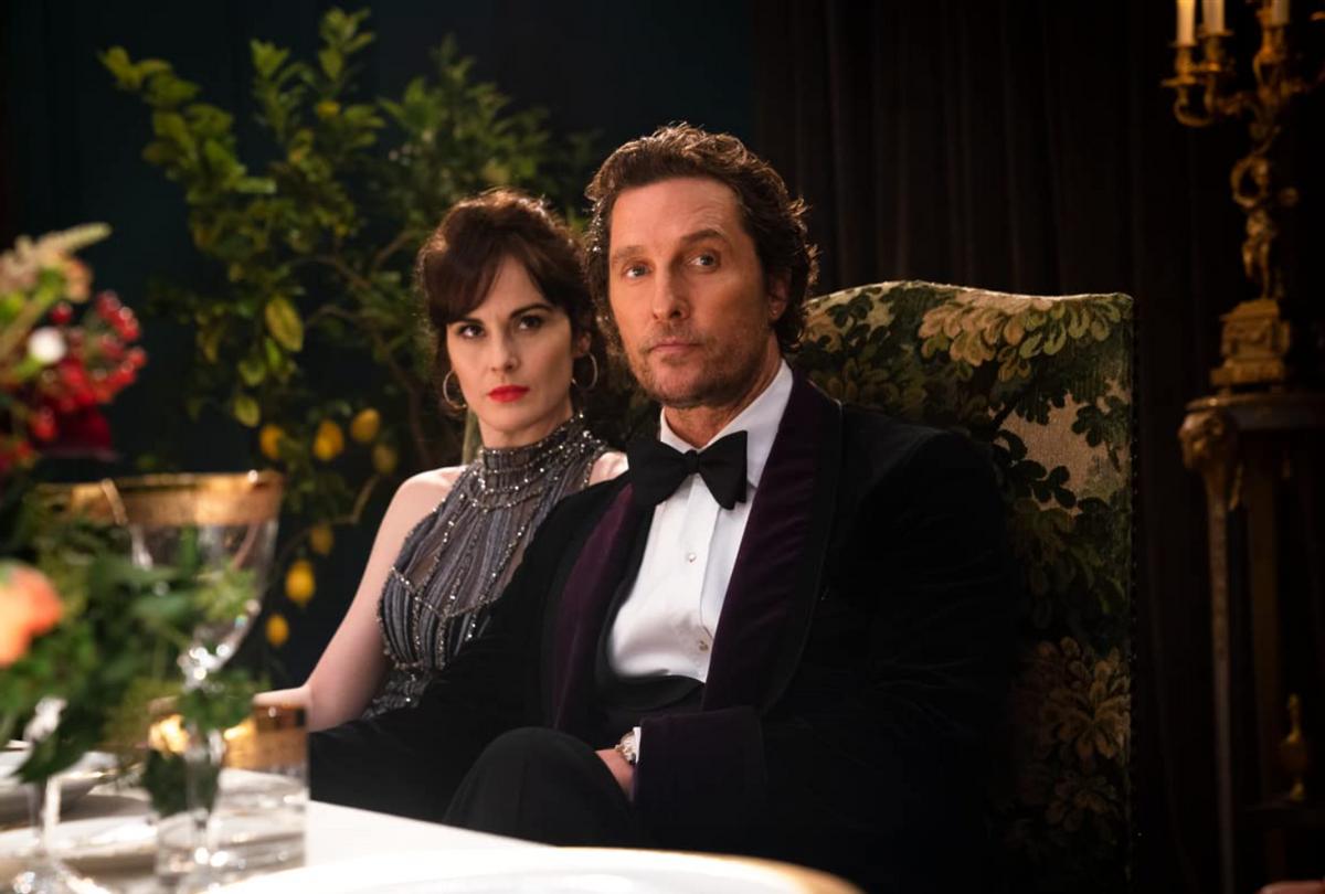 "Michelle Dockery and Matthew McConaughey in ""The Gentlemen"" (STX Films)"