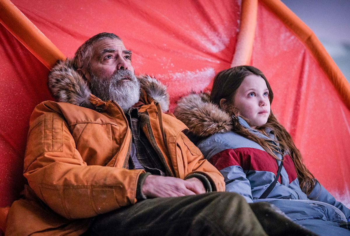 """George Clooney and Caoilinn Springall in """"The Midnight Sky""""  (Netflix)"""