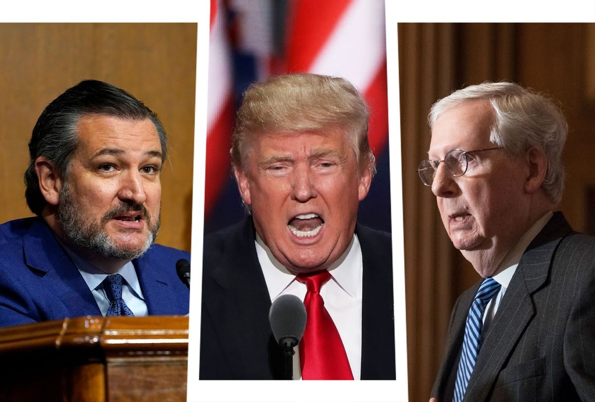 Ted Cruz, Donald Trump and Mitch McConnell (Photo illustration by Salon/Getty Images)